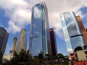 I grattacieli di Los Angeles. Una foto di pubblico dominio, scaricabile da Public Domain Photos