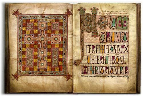 The Lindisfarne Gospel, uno dei più bei manoscritti alto-medievali, così come appare nella versione digitale offerta dalla British Library