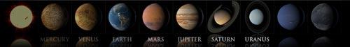textures pianeti del sistema solare