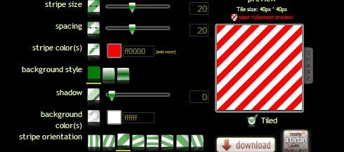 pattern generator per creare sfondi a strisce
