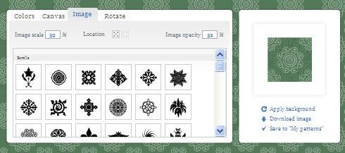 pattern generator, tool online per creare sfondi e background