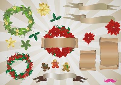 addobbi natalizi, immagini vettoriali