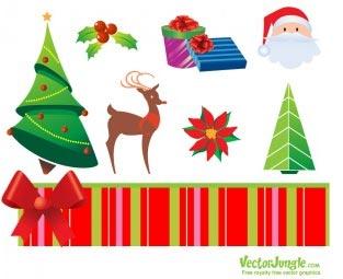 icone natalizie in vettoriale