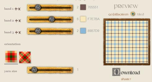 pattern generator per creare tartan scozzesi