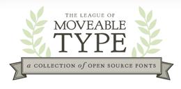 Logo di Moveable Type, sito che offre font gratuiti e open source