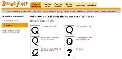 identifont, strumento per identificare un font