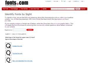 search by sight è un sito che ti aiuta a trovare il nome di un font