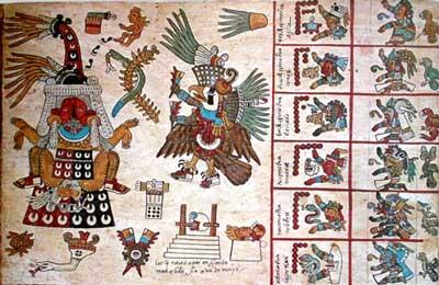 iscrizioni azteche riportate in un antico codice