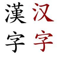 cinese tradizionale e cinese semplificato
