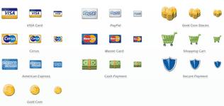 set di icone carte di credito