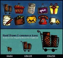 icone e-commerce disegnate