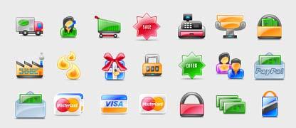 icone e-commerce glossy