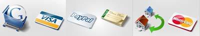 icone metodi di pagamento: carte di credito, assegno