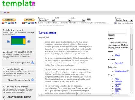 generatore online di temi wordpress