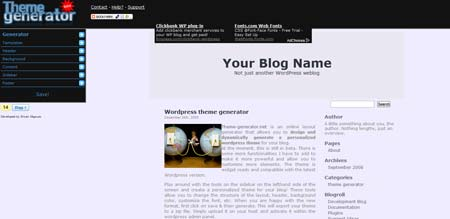 tool online per creare temi wordpress