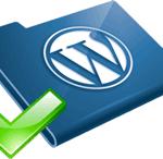 icona di una cartella con il logo di wordpress