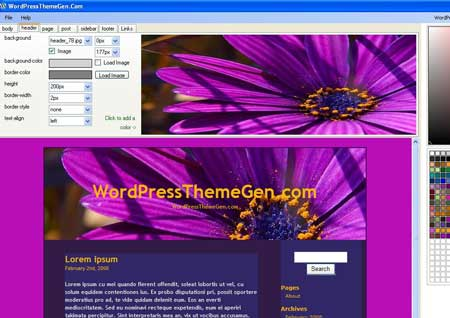programma per creare facilmente un tema WordPress