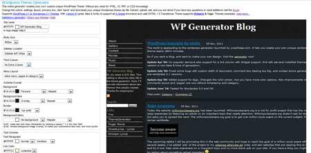 generatore di temi wordpress